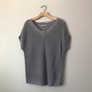 Gap chunky knit top grey tan